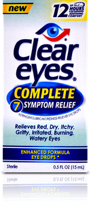 Clear Eyes<sup>®</sup> Complete 7 Symptom Relief Eye Drops