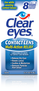 Clear Eyes<sup>®</sup> Contact Lens Multi-Action Relief Eye Drops