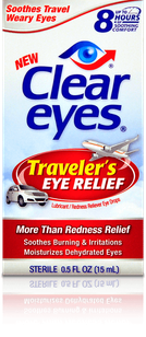 Clear Eyes<sup>®</sup> Traveler's Eye Relief Eye Drops