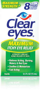 Clear Eyes<sup>®</sup> Maximum Strength Itchy Eye Relief