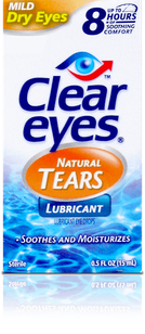 Clear Eyes<sup>®</sup> Natural Tears Lubricating Eye Drops