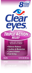 Clear Eyes<sup>®</sup> Triple Action Relief Eye Drops